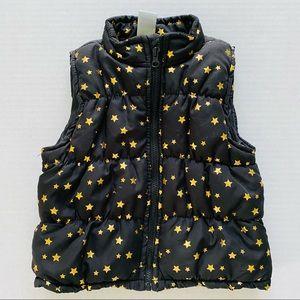 Healthtex   @ Puffer Vest Metallic Gold Stars 3T